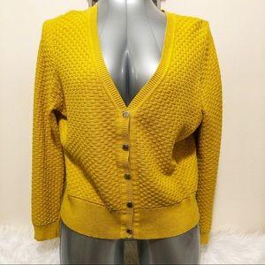 Liz Claiborne Weaved Snap button sweater sizeL EUC